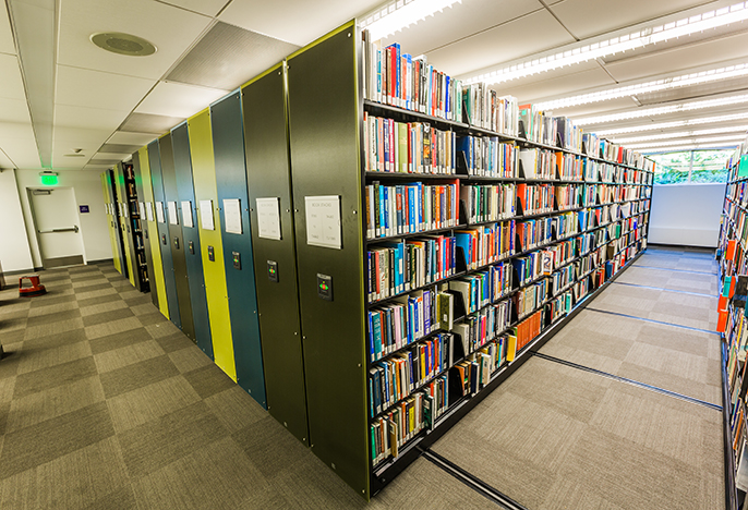 Clark Library compact shelving